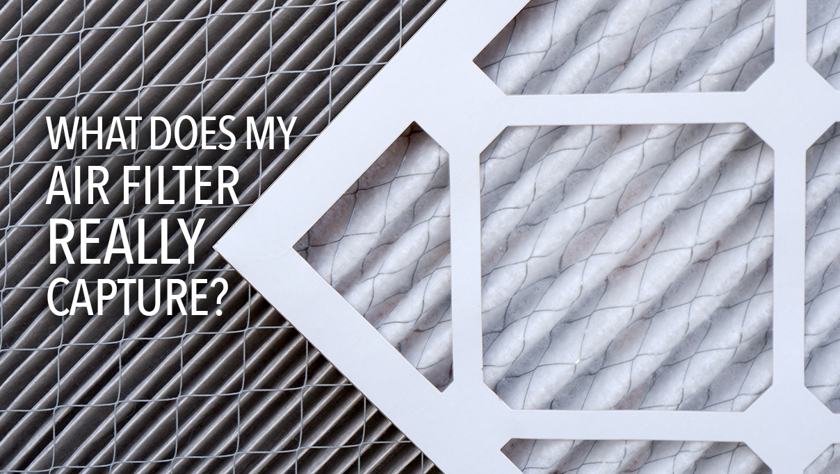 What does your air filter in your home really capture? Dirty filters versus clean filters.